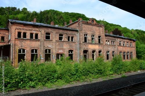 Foto auf AluDibond Bahnhof Altes Bahnhofsgebäude in Vlotho