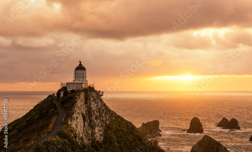 Photo  Lighthouse on Nugget Point