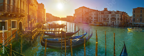 Stickers pour portes Venise Grand Canal at sunset, Venice, Italy