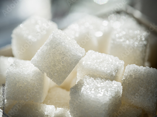 Fotografie, Obraz  Close up shot of white refinery sugar.