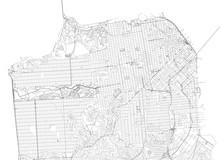 Mappa Di San Francisco, Vista Satellitare, Strade E Vie, Usa