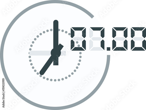 Fototapety, obrazy: Analog and digital clock