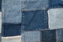 Denim Patchwork Textile Pattern