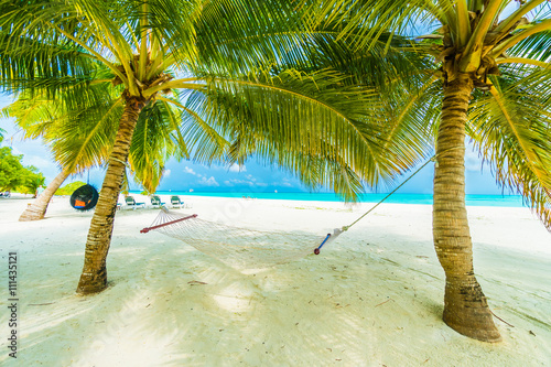 Foto op Canvas Tropical strand Maldives island