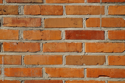 Czerwona cegła, mur z czerwonej cegły