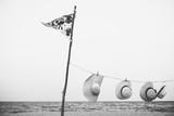 Flaga kapelusz wiszące dekoracje plaży lato koncepcja - 111459340