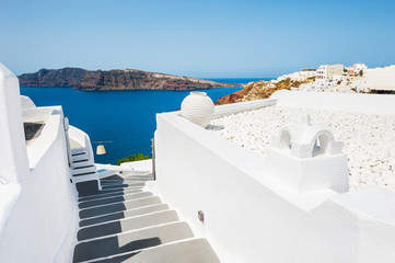 FototapetaWhite architecture on Santorini island, Greece.