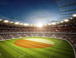 Fototapeta stadion piłkarski flaga Polska
