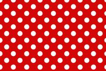 Red Polka Dot Background.