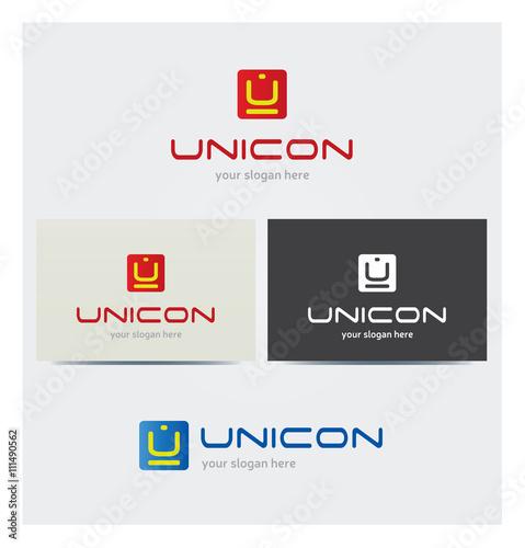 Logo Lettre U Carte De Visite Et Charte Graphique Entreprise Plusieurs Couleurs
