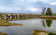 ancient Roman bridge over the Guadiana River, in Merida, Spain