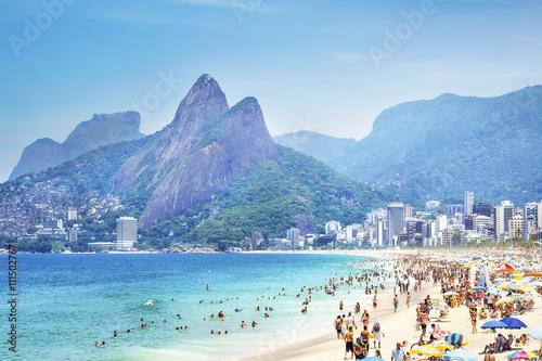 Photo  Ipanema Beach in Rio de Janeiro, Brazil.