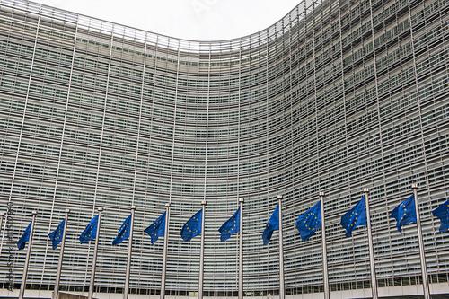 Poster Brussel Verwaltungsgebäude der