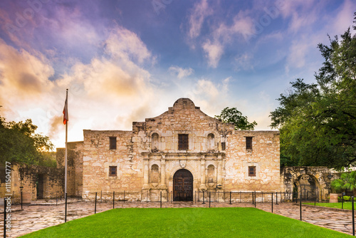 Poster de jardin Fortification The Alamo in Texas