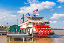 Paddle Steamer On The Mississi...