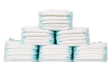 Stacks Of Diapers Isolated On ...