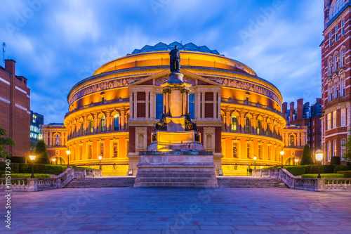 Opera, Theatre Illuminated Royal Albert Hall, London, England, UK at night