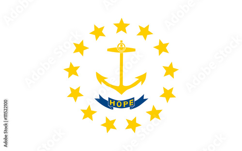 Flag of Rhode Island, USA