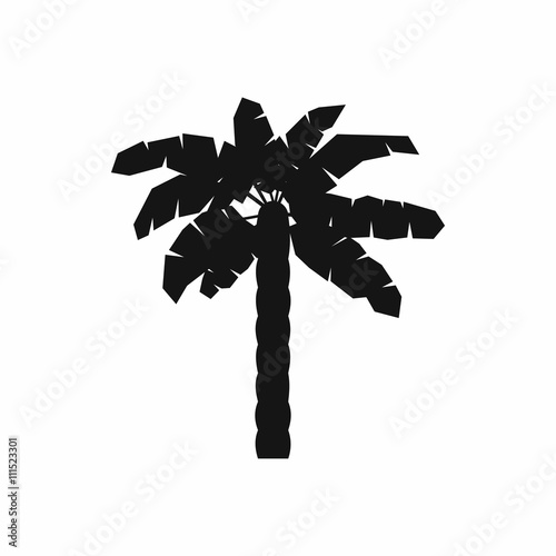 One palm tree icon, simple style Wall mural