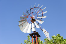Old Antique Aermotor Windmill Used To Pump Water And Beautiful B