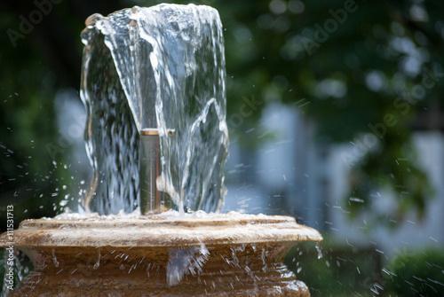 La pose en embrasure Fontaine Fountain of youth and health in Rusanda resort