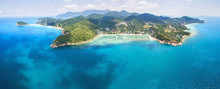 Aerial Panoramic View Of Koh Phangan Thailand
