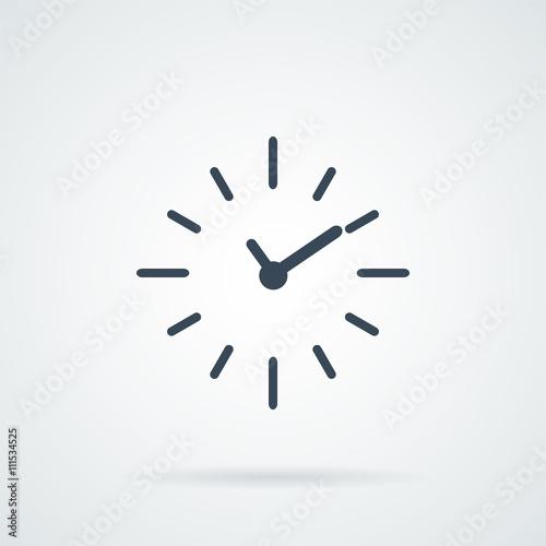 Fototapeta Clock vector Icon, obraz na płótnie