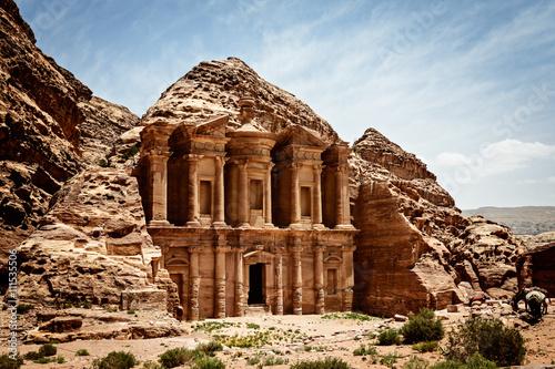 Poster Moyen-Orient Monastery Ad-Deir, ancient Nabataean city Petra, Jordan.