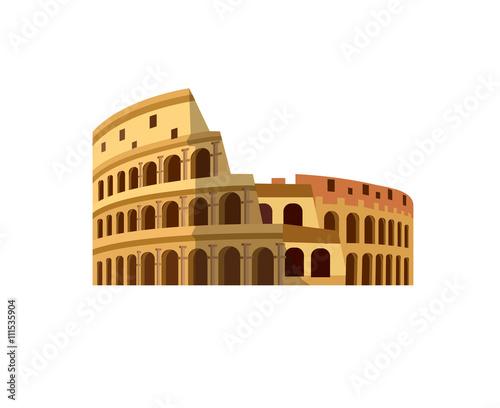 Stampa su Tela Coliseum in Rome, Italy. Colosseum