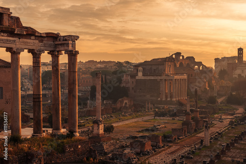 Rome, Italy: The Roman Forum. Old Town of the city Canvas Print