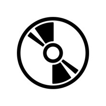 Compact Disc Icon On White Bac...