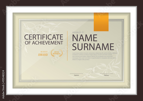 Certificate Templatediploma Layouta4 Size Vector Buy This Stock