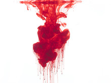 Abstract Form Of Blood Or Red ...