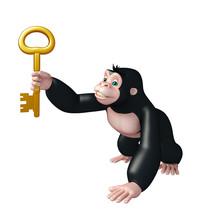 Cute Gorilla Cartoon Character...