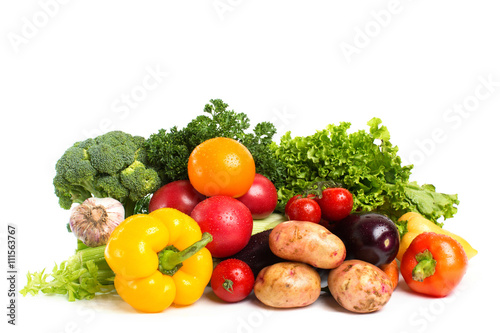 vegetables isolated on a white background - 111563767