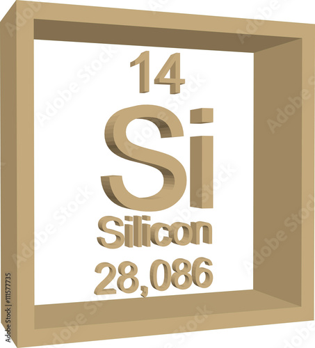 Periodic Table Of Elements Silicon Buy This Stock Vector And
