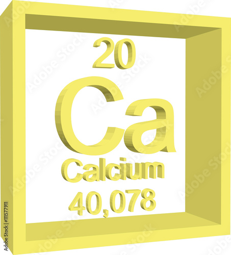Periodic Table Of Elements Calcium Buy This Stock Vector And