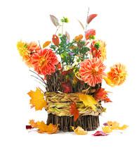 Autumn Bouquet On Basket