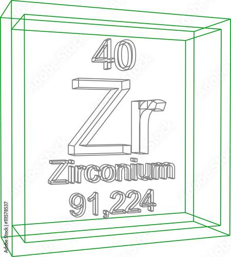 Periodic table of elements zirconium buy this stock vector and periodic table of elements zirconium urtaz Images