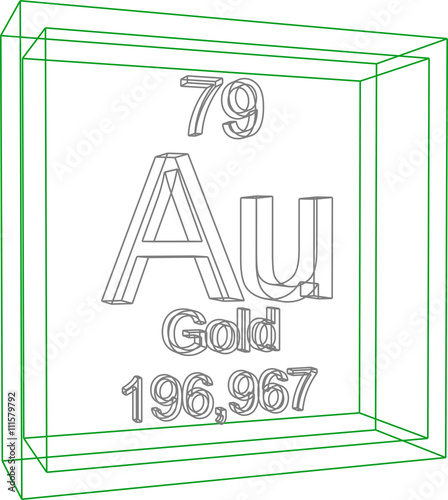 Periodic Table Of Elements Gold Buy This Stock Vector And