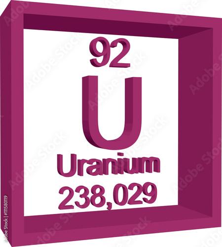 Periodic table of elements uranium buy this stock vector and periodic table of elements uranium urtaz Choice Image