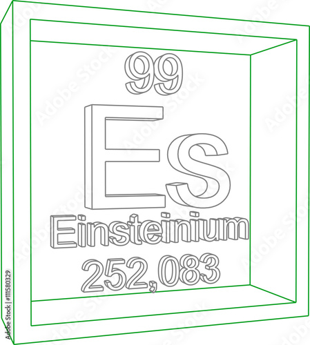 Periodic Table Of Elements Einsteinium Buy This Stock Vector And