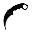 Karambit Messer Schwarz - Karambit Knife Black