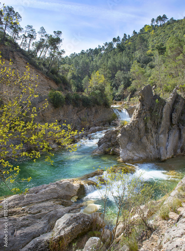 River Borosa Walking Trail in the Sierra Cazorla Mountain Range, Jaen Province, Andalusia, Spain - 111581527