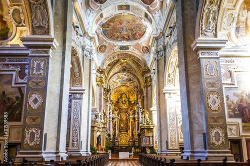 interior of church, augustinian monastery in Klosterneuburg, Low