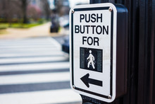 Push Button To Cross Road Cros...