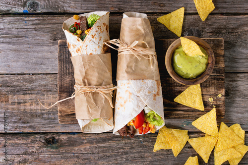 Fotografia, Obraz  Tortillas and nachos