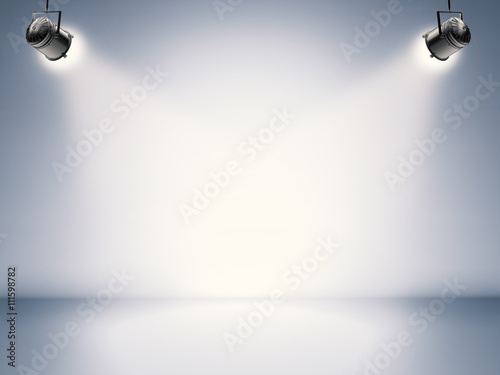 Cadres-photo bureau Lumiere, Ombre blank stage with shining lights