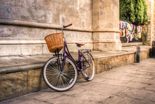Iconic Vintage Bicycle At An O...