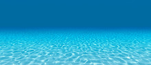 Sandy Bottom, Blue And Surface Underwater